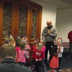 Rev Ian and Praying Children