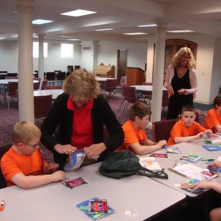 Children at Vacation Bible School 1