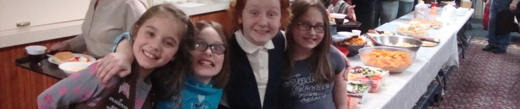 Girl Scouts Serving Lenten Supper