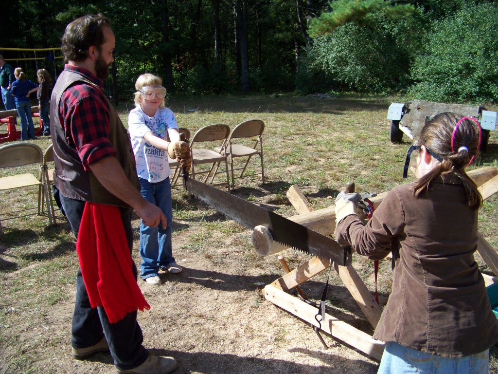 Girl Scouts Sawing 1