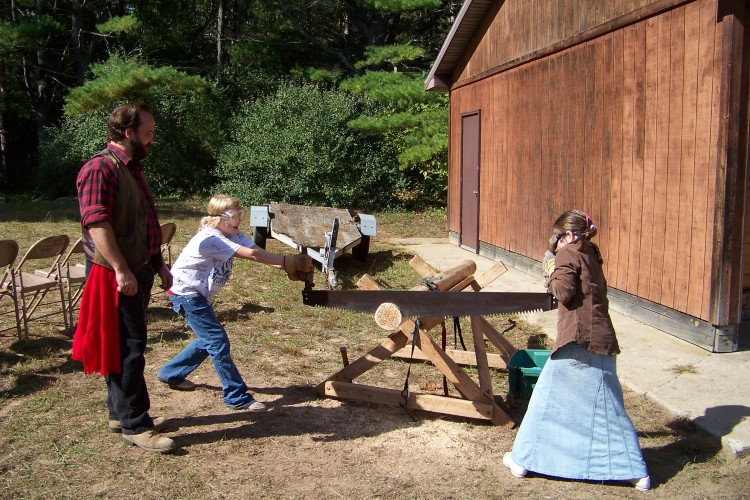 Girl Scouts Sawing 2