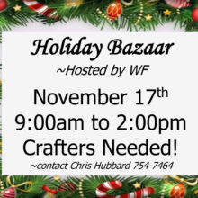 Holiday Bazaar - November 17, 2018